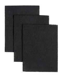 3 Pack Charcoal Carbon Range Hood Filter Pad Kit