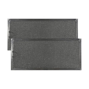 2 Filters Aluminum Mesh Grease Microwave Oven Filters Replacement