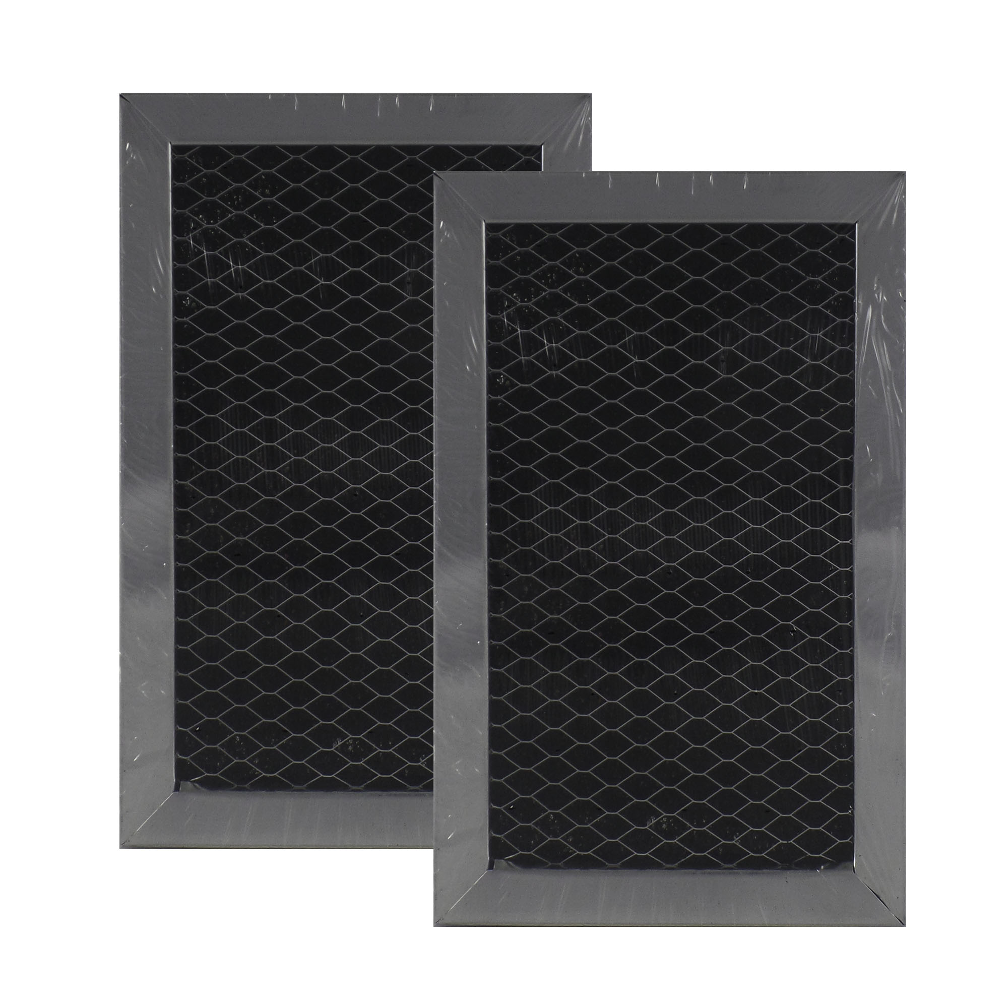 Air Filter Factory 2 PACK Compatible Replacement For Whirlpool AP3115349 Microwave Hood Charcoal Filter Set